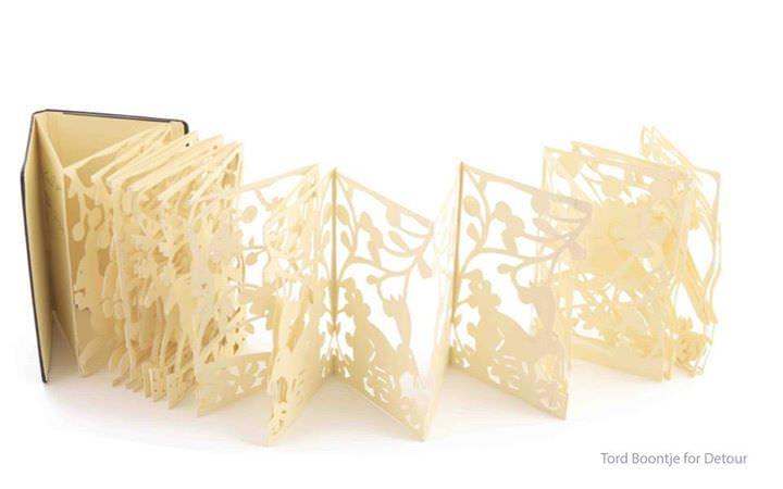 [故事书设计]唯美立体纸雕书