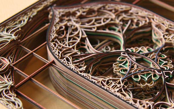 平面设计 极致工艺 3d雷射雕刻立体纸雕