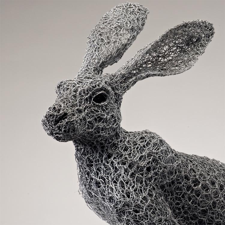 [设计工艺]铁丝动物装置艺术