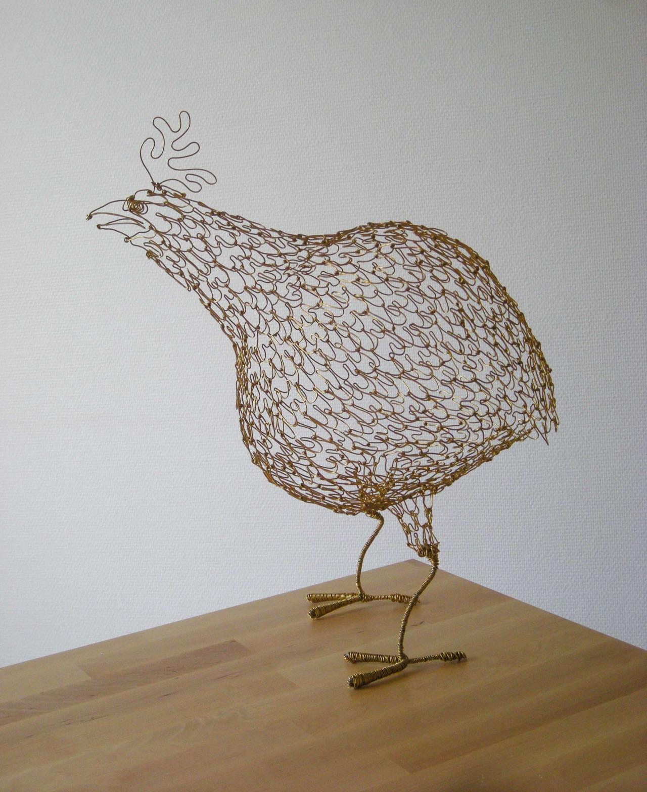 [工艺设计]金属铁丝雕塑创作