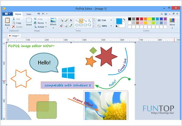 《軟體》PicPick螢幕影像截圖小工具@修圖、調色盤、放大鏡、尺規應有盡有