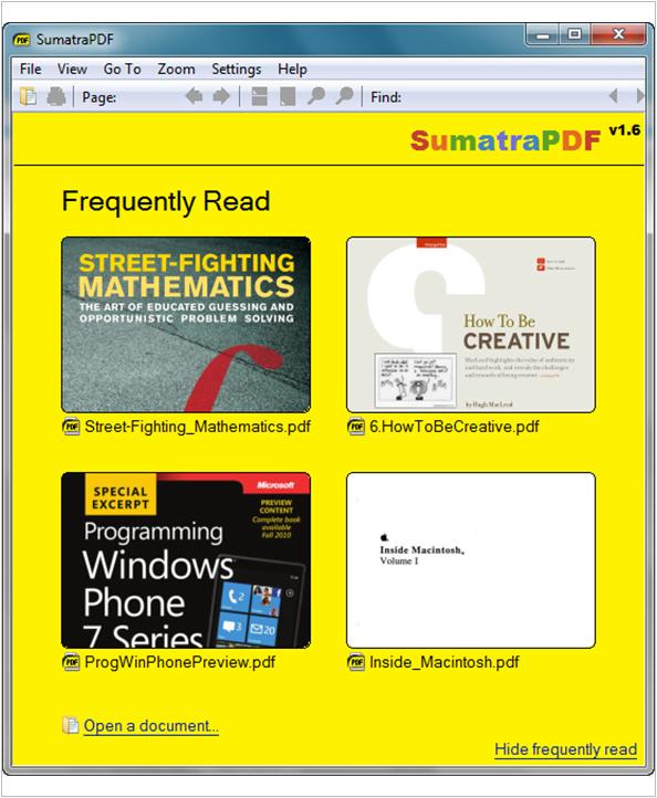 《軟體》Sumatra PDF‧超實用輕巧陽春的PDF閱讀器‧檔案小速度快