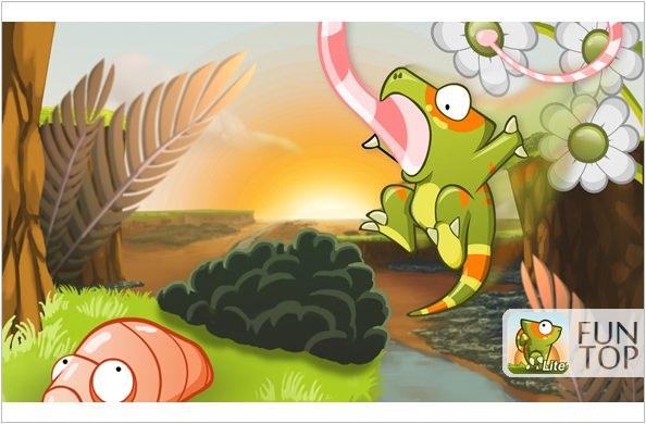 《APP》Munch Time Lite變色龍@找星星吃蟲蟲‧大朋友小朋友都適合的輕鬆小品